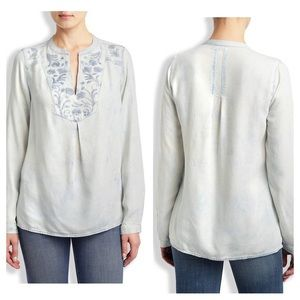 Lucky Brand Chambray Embroidered Tunic
